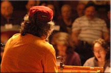 Kirtan Rabbi and audience